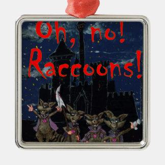 Zazzle ohno raccoonsOh, no! Raccoons! Metal Ornament