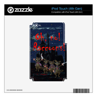 Zazzle ohno raccoonsOh, no! Raccoons! Skin For iPod Touch 4G