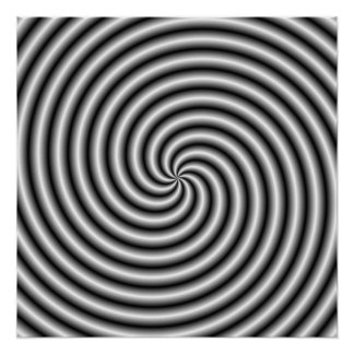 Zazzle Perfect Poster The Swirl in Black and White