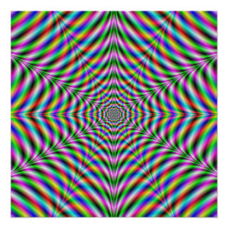 Zazzle Perfect Poster  Twelve Pointed Psychedelic