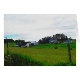 Zazzle pintó la granja tarjeta de felicitación