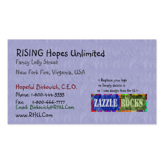 ZAZZLE ROCKS - Floral Dream Blue by Naveen Double-Sided Standard Business Cards (Pack Of 100)