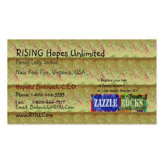 ZAZZLE ROCKS - Rising Hopes Gold Panel Business Card