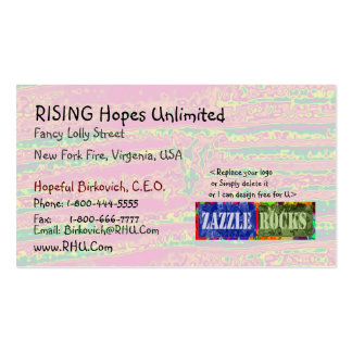 ZAZZLE ROCKS - Sensual Silken Waves by Naveen Double-Sided Standard Business Cards (Pack Of 100)