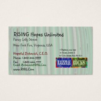 ZAZZLE ROCKS - Soft Green Patterns Business Card