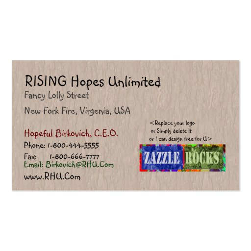 ZAZZLE ROCKS - Sweet Mellow Spirit by Naveen Business Cards
