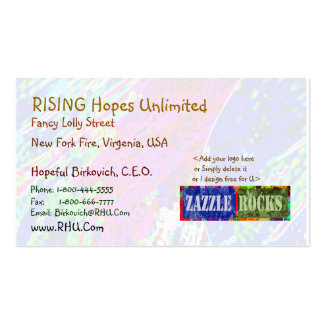 ZAZZLE ROCKS - Virgin Splash by Naveen Double-Sided Standard Business Cards (Pack Of 100)