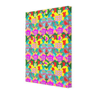 Zazzle Sale Abstract Colorful Flowers FineArt gift Canvas Print