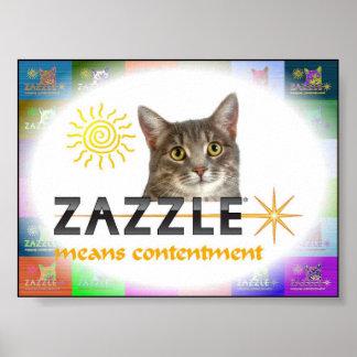 Zazzle significa la alegría póster