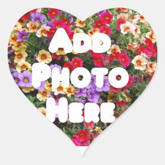 Zazzle Template Design My Own Photo Present Upload Heart Sticker
