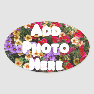 Zazzle Template Design My Own Photo Present Upload Oval Sticker