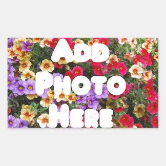 Zazzle Template Design My Own Photo Present Upload Rectangular Sticker