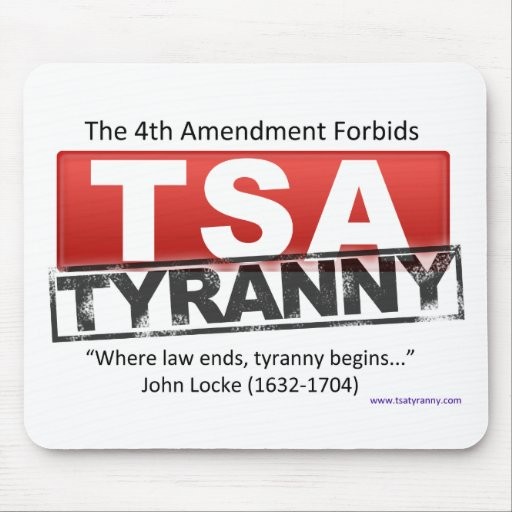 Zazzle TSA Tyranny Image Mouse Pad