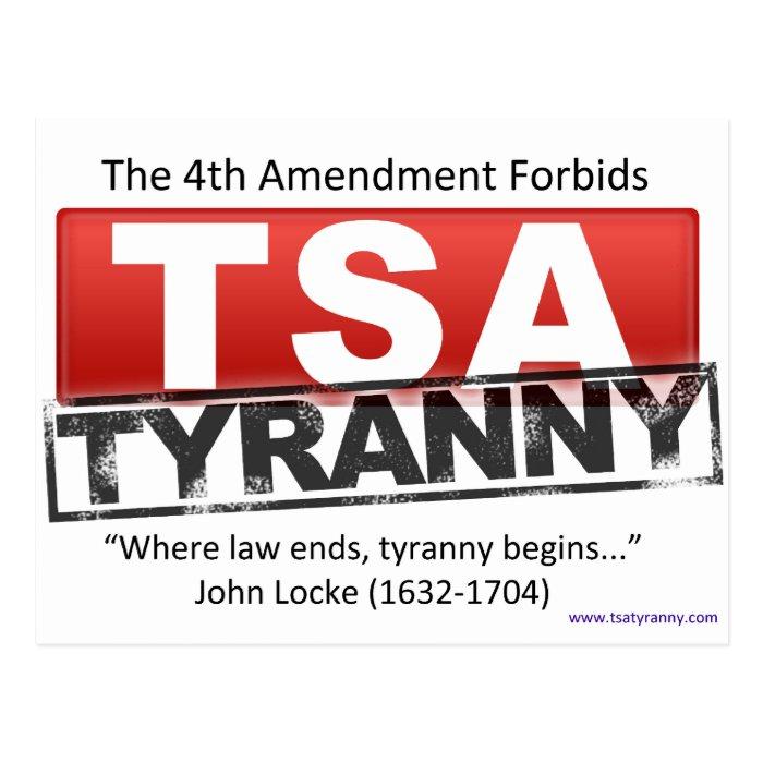 Zazzle TSA Tyranny Image Postcard