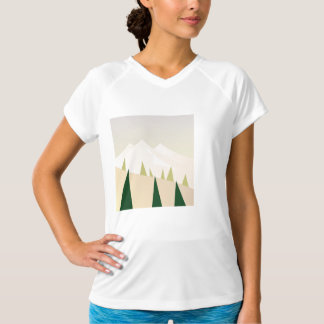 Zazzle tshirt : with Mountain hand-drawing