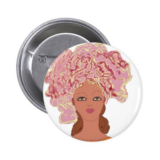 Zazzle Woman With Head Wrap Button