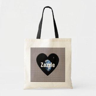 Zazzle Worldwide Diamonds Heart Tote Bag
