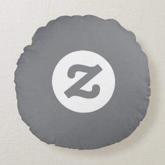 "Zazzle ""Z"" Logo Pillow on Gray"