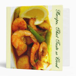 zazzleaveryrecipecontest2010-Shrimps_ Avery Binder Vinyl Binder