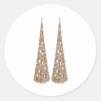 Zazzlelist Jewel Tree Decorations Round Sticker