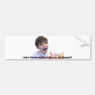 zazzlepicture, Jake Carbone, Don't Worry, Be Ha... Bumper Sticker