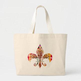 ZazzleRocks: Fleur-de-Lis Series Jumbo Tote Bag
