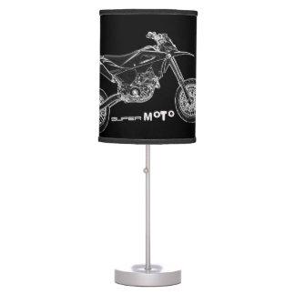 Zazzle's Coolest Black  SuperMoto Motorcycle Lamp