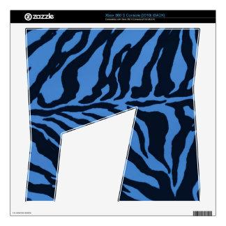 Zazzlicious Blue Zebras Xbox 360 S Console Skin