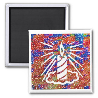 Zazzling Candles - Let there be light 2 Inch Square Magnet