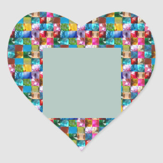 Zazzling Labels  GEMS JEWELS PEARLS Border Frames Heart Sticker