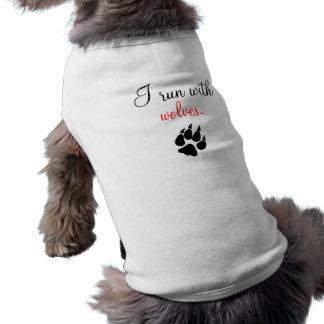 zazzzle, corro con, los lobos camisas de perritos