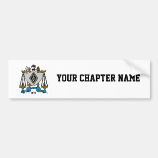 ZBT Crest Color Bumper Sticker