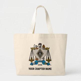 ZBT Crest Color Large Tote Bag