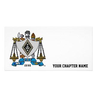 ZBT Crest Color Customized Photo Card