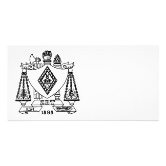 ZBT Crest Personalized Photo Card