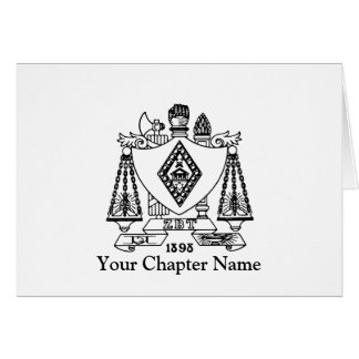 ZBT Crest Stationery Note Card