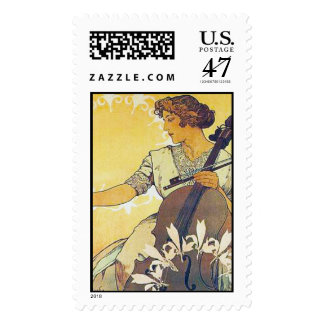 Zdenka Cerny, Alphonse Mucha - Postage Stamp
