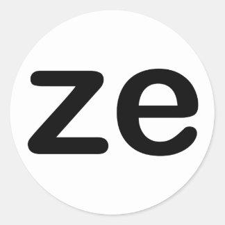 Ze Classic Round Sticker