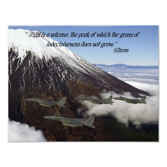 Zeal is a volcano, the peak of which the grass of card
