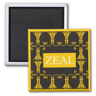 Zeal - One Word Quote For Motivation magnet