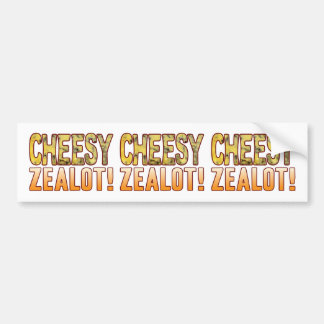 Zealot Blue Cheesy Bumper Sticker