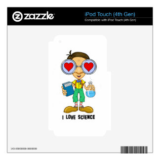 Zebart (I love Science)The Hollyweirdos Collection Decals For iPod Touch 4G
