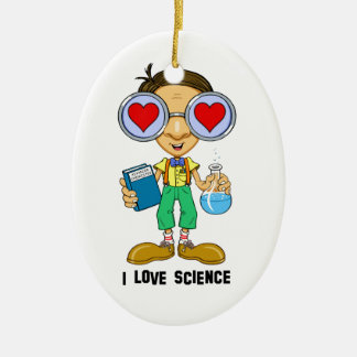 Zebart (I love Science)The Hollyweirdos Collection Double-Sided Oval Ceramic Christmas Ornament