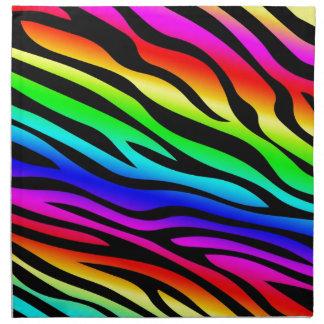 Zebbra raya el arco iris servilletas