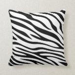Zebbra Stripes Black and White Throw Pillow