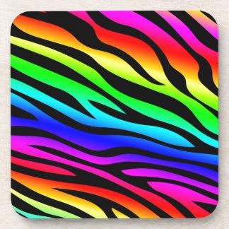 Zebbra Stripes Rainbow Coaster