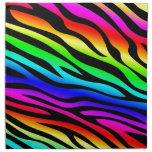 Zebbra Stripes Rainbow Napkin