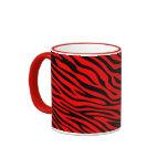 Zebbra Stripes Red Coffee Mug