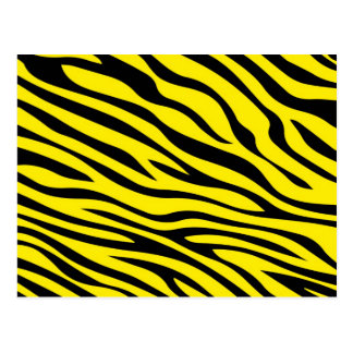 Zebbra Stripes Yellow Postcard