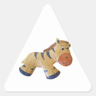 Zebedee Zebra Triangle Sticker